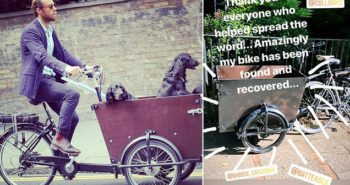 James Middleton recovers his £2k dog bike after it was STOLEN by thieves