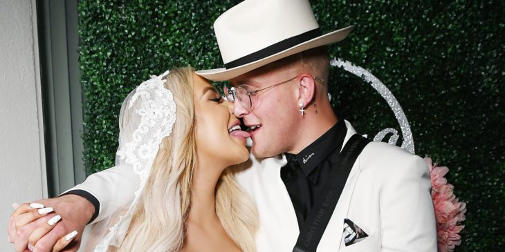 24 photos show the wild antics inside Jake Paul and Tana Mongeau's $500,000 Vegas wedding, including a 'Game of Thrones' sword and a massive mid-ceremony brawl