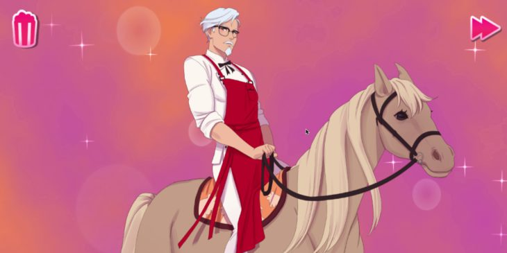 I played KFC's bizarre Colonel Sanders dating game so you don't have to