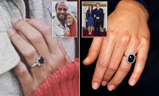 James Middleton proposes to Alizee Thevenet with sapphire ring similar to Kate Middleton's