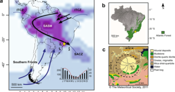 Shut down of the South American summer monsoon during the penultimate glacial