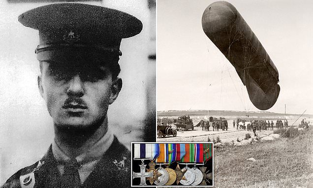 Medals of WWI hero who stopped hydrogen balloon from falling into German hands sells for £5k