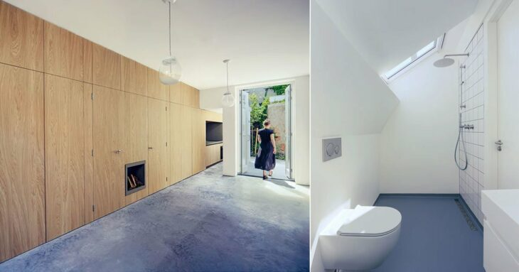 bláha architecture + design renovates a traditional courtyard house in the hague