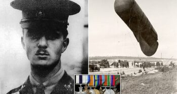 Medals of WWI hero who stopped observation balloon from falling into German hands sells for £5k