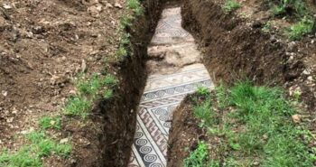 Archaeologists discover pristine ancient Roman mosaic floor buried under piles of vines