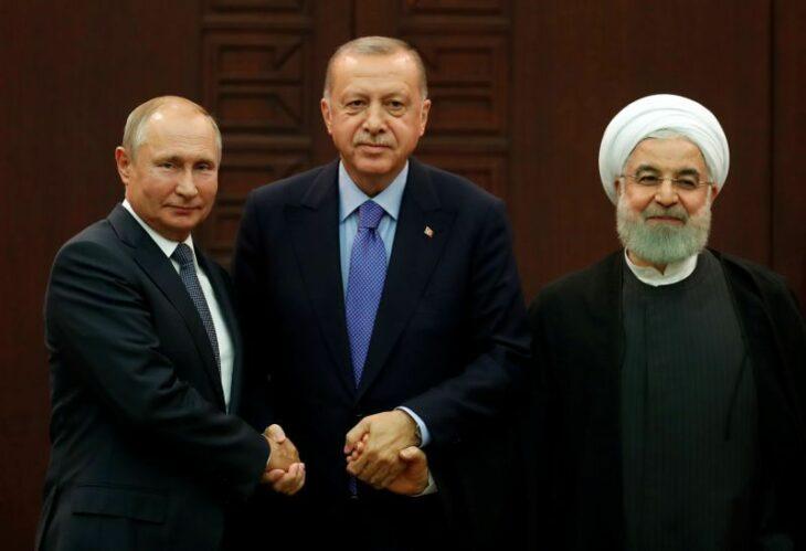 Russia, Turkey, Iran leaders to discuss Syria on Wednesday, Kremlin says