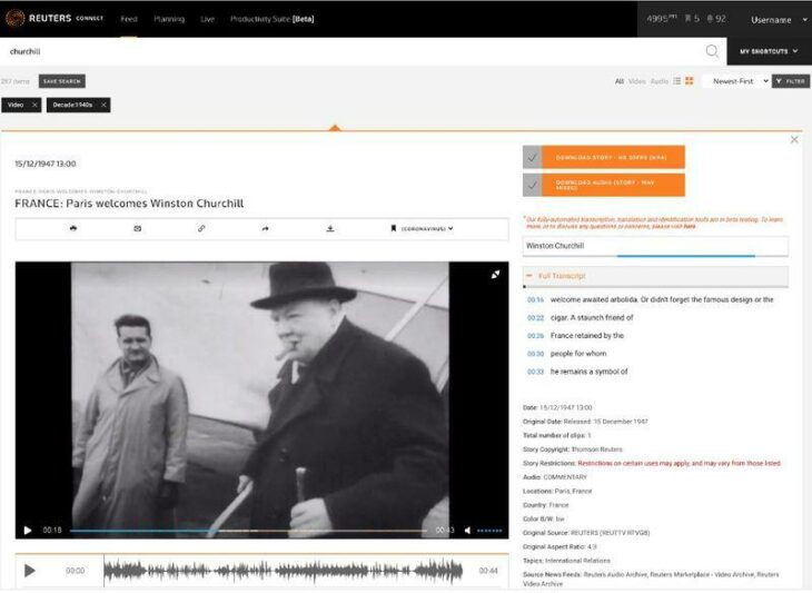 Reuters applies AI technology to 100 years of archive video to enable faster discovery, supported by Google DNI – Reuters.com
