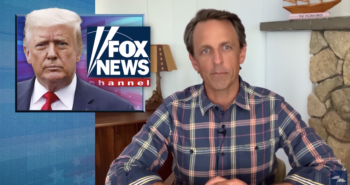 Late Night Says Trump Ran Back to the Comfort of Fox News